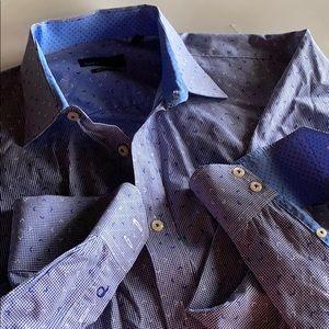 Quieti 100% Fine Cotton Contrast Detail Shirt XL